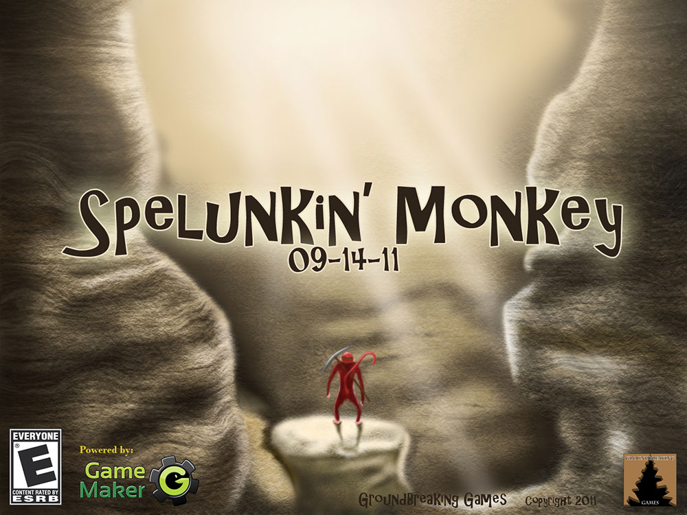 Game release poster for Spelunkin Monkey