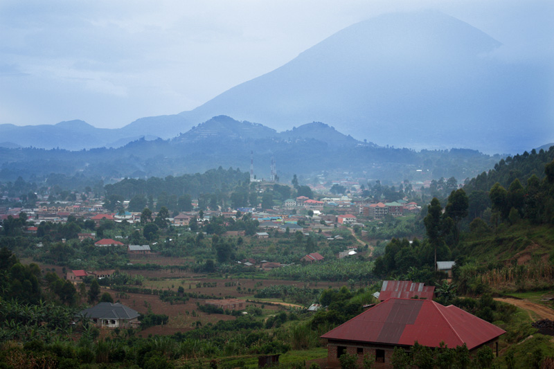 kisoro town in valley